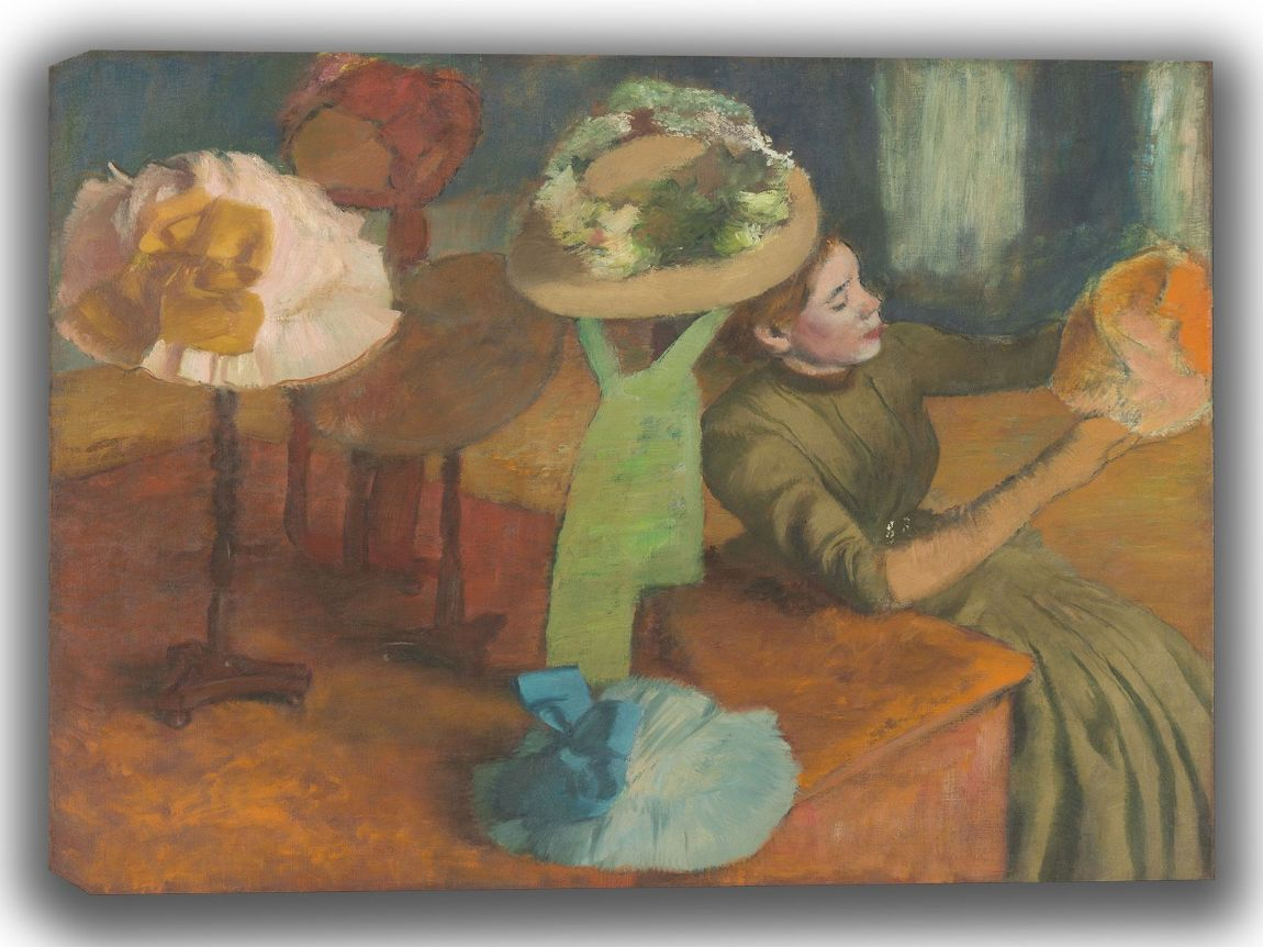 Degas, Edgar: The Millinery Shop. Fine Art Canvas. Sizes: A4/A3/A2/A1 (003767)